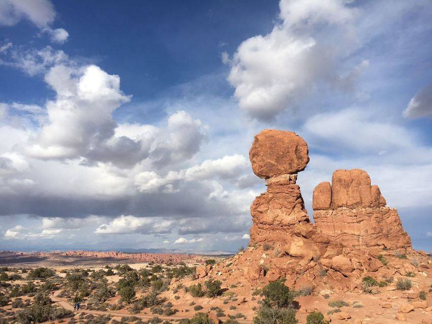 Rock Formation Tranquil Scene Rock - Object Geology Tranquility Sky Landscape Nature Physical Geography Beauty In Nature Travel Destinations Cloud - Sky Day Arid Climate Scenics Outdoors No People Desert Rock Hoodoo balancing rock