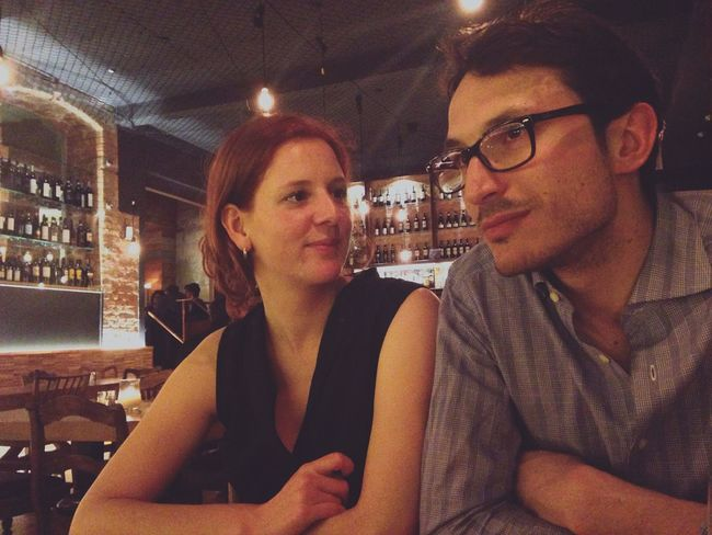 My friends are beautiful. Drunk In Love Italian Eating A Tale Of Two Cities Girl Boy Restaurant Portrait Couple