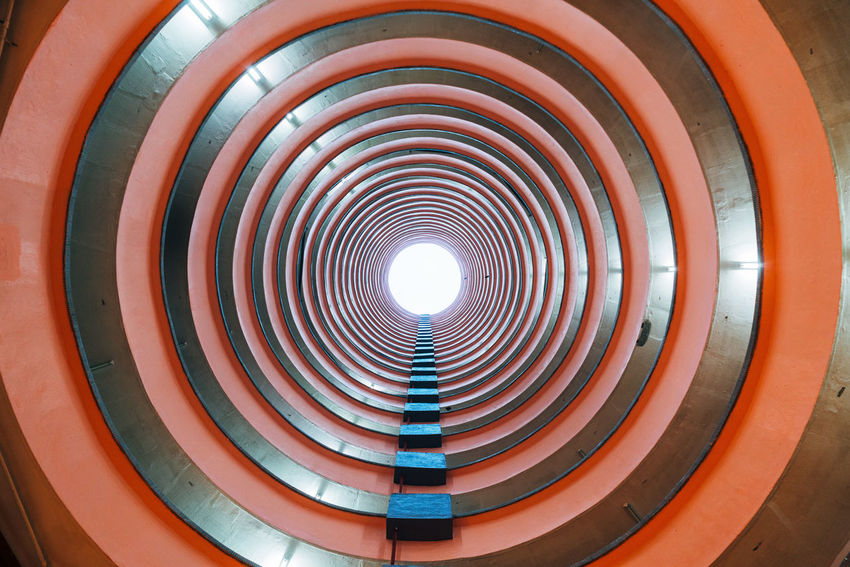 Low Angle View Architecture Built Structure Circle Day Indoors  No People Pattern Residential Building