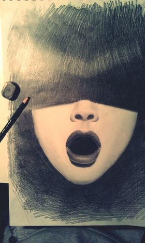 Today's Hot Look Art, Drawing, Creativity Contrast Passion #lips