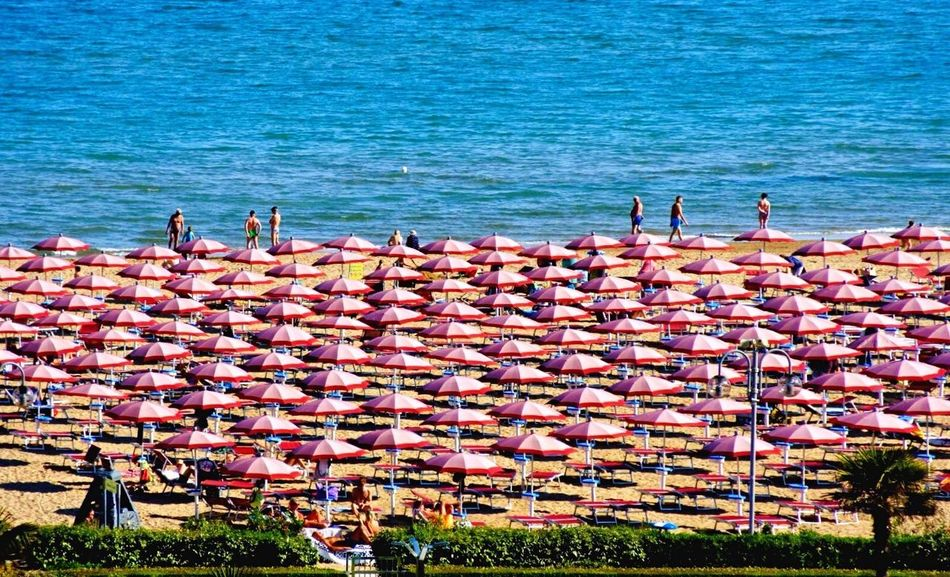 Umbrella Beach Adriatic Coast Scenery Shots Watching People Hanging Out Enjoying The Sun High Angle View Beachlife Travel Photography Italianlandscape Beauty In Ordinary Things