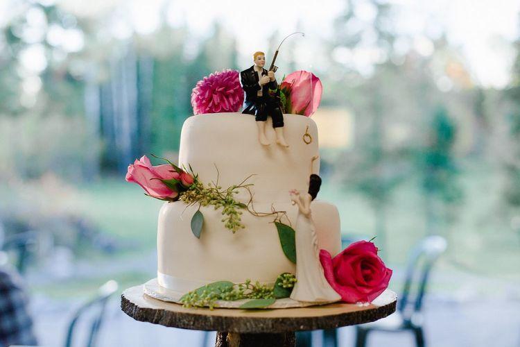 Wedding Cake Wedding Cake Fishing Cake Topper Marriage  Couple Bride Groom Canada
