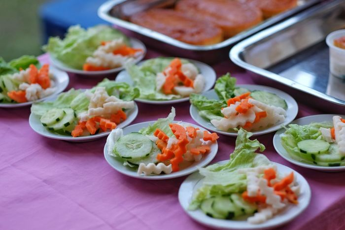 Ready-to-eat Food Vegetable Healthy Eating Close-up Freshness Asian Food Day Carrot Lettuce Vegetable Salad Vegan Salad