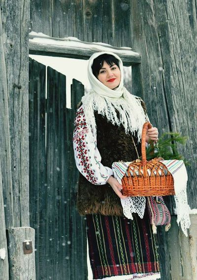 Women Happy People❤ Sweet😍 Beautiful Woman Republic Of Moldova Traditional Culture Traditional Costume Winter Holiday