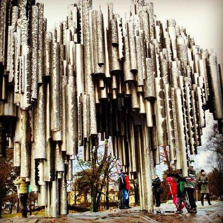 Monument to Sibelius Helsinquia Finland