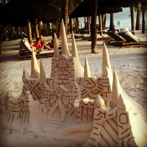 WhiteSandCastle at BiracayBeach near in our Resort ,.,,. Amazing !!!