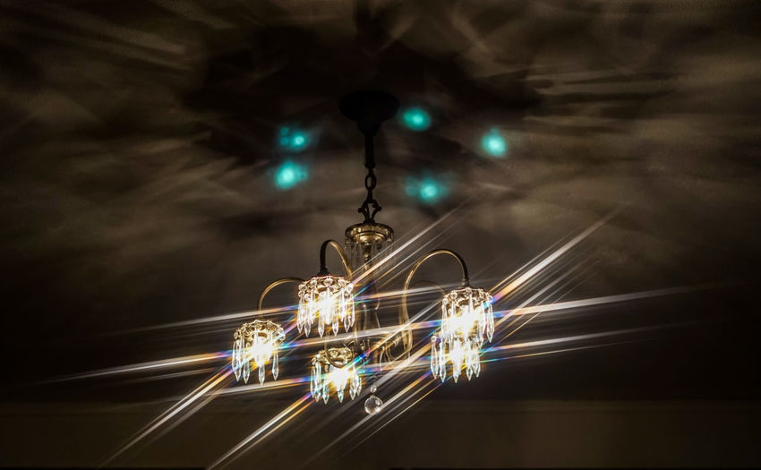 Light trails hanging from ceiling