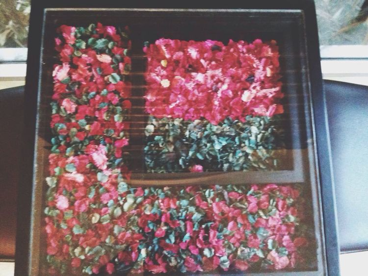 Dried flowers below, covered with a layer of glass. Taking Photos Furniture
