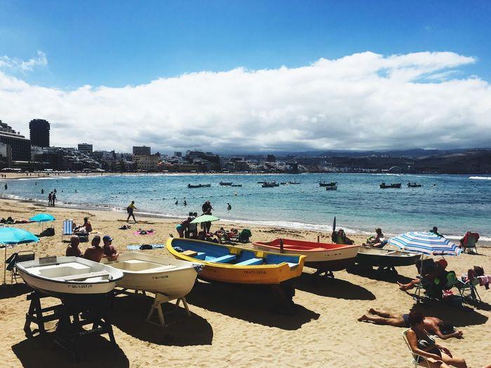 Beach Boats Summertime Relaxing