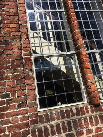 2017 Window Building Exterior Architecture Brick Wall Built Structure Day No People Outdoors Low Angle View Close-up Church St. Martin Schleswig-Holstein