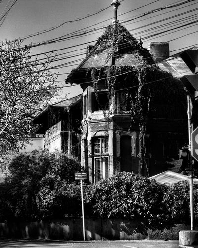 OLd House Built Structure Building Exterior Architecture Building No People Outdoors House Electricity  Roof Place Of Worship Old Vintage Style Black And White monochrome photography Urbanscape Street Street Photography Picturesque Picturesque Place Ruined Decay Sadness Sorrow Melancoly Melancholy