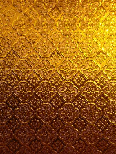 Pattern Textured  Gold Colored