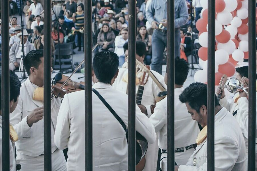 Mariachis during valentinesday San Miguel de Allende, Mexico RePicture Masculinity The Photojournalist - 2016 EyeEm Awards The Street Photographer - 2016 EyeEm Awards The Eyeem Collection At Getty Images Open Edit Music Learn & Shoot: Layering