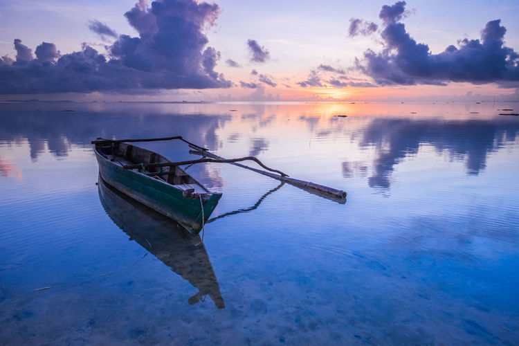 Fish Eye Beach of Batam Island Water Sky Sunset Cloud - Sky Beauty In Nature Nature Scenics - Nature Tranquil Scene Tranquility Outdoors No People