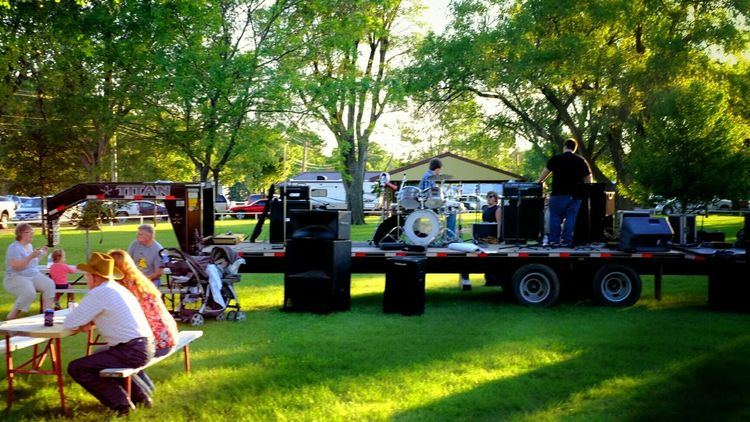 Setting Up Live Music Rural America Small Town USA MidWest Kansas Carnival Cowboys A Day In The Life Color Photography