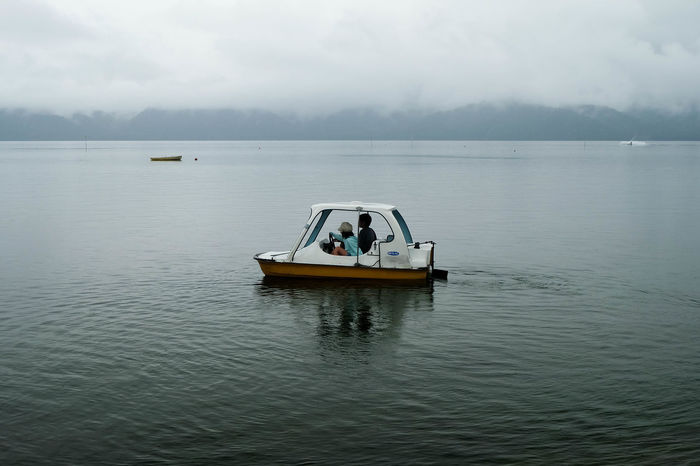 Akan National Park Cloudy Hokkaido Rain Weather Boat Caldera Lake Clouds And Sky Fog Lake Kussharo Landscape Leisure Activity