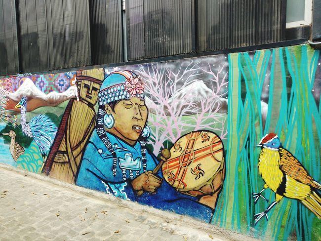 Culture And Tradition Graffiti Valparaiso, Chile
