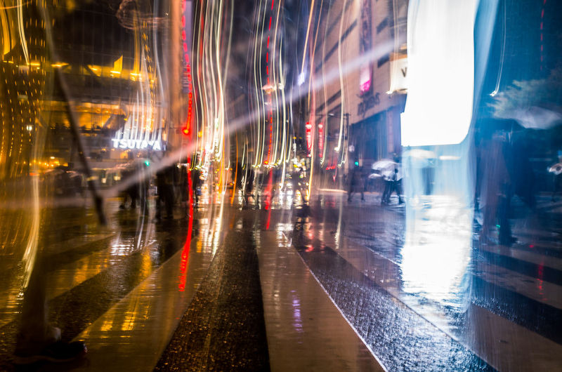 From My Umbrella ◀️☔️ Deracinate Glitch Showing Imperfection EyeEm Worst Shots Blur Night Lights Abstract Break The Mold City Illuminated Long Exposure Motion Night No People Outdoors Rain Rainy Season Reflection Road Wet Getting Inspired Crossing Rebel Resist End Plastic Pollution
