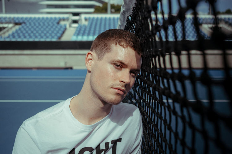 Adult Athlete Blue Close-up Day Leisure Activity Melbourne One Person Outdoors People Portrait Portrait Photography Portraits Real People Sport Sports Clothing Sportsman Tennis The Portraitist - 2017 EyeEm Awards Young Adult
