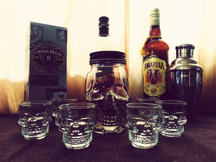 Skull Glass Shots Mixer Amarula Whiskey Johnniewalker Chivasregal Choice Perfume Sprayer