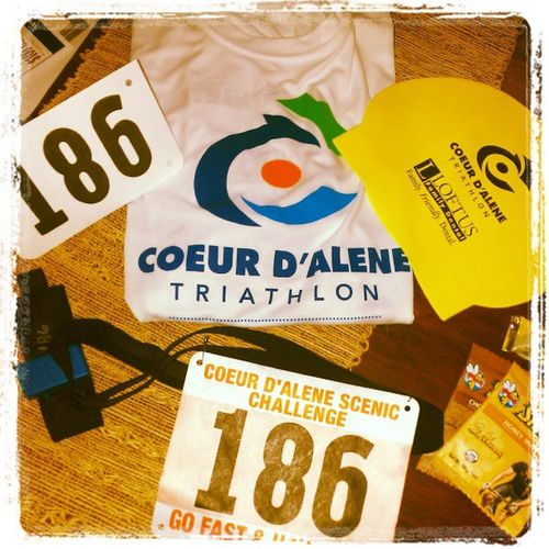 It's official, 186 !! I will be kicking butt in the Cda Tri tomorrow!
