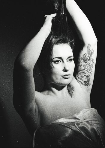 Le Femme Tatouée. Filmisnotdead Film Is Not Dead Film Photography 35mm Film Ilford Delta 3200 Grain Monochrome Photography Lowlight Film Noir Analogue Photography Old-fashioned Beautiful Woman Tattoo Girl Canon Eos 5 Film Noir Style EyeEm Best Shots EyeEm Gallery Eyeemphoto For The Love Of Photography Portrait Beautiful People Narratives Emotions Captured Art Photography Long Hair