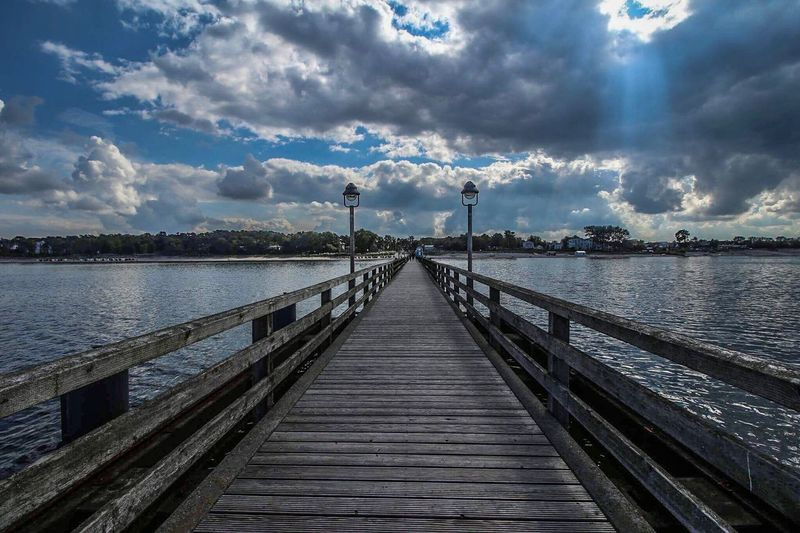 Water Pier Cloud - Sky Sky Jetty Outdoors Wood - Material Nature Sea Tranquil Scene Built Structure No People Day The Way Forward Beauty In Nature Wood Paneling Scenics Tree Architecture Canonphotography Greifswalder Bodden Mecklenburg-Vorpommern Seebrücke Lubmin Canoneos700d