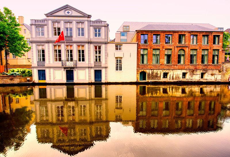 Brugge, Belgium Architecture Brugge, Belgium Beauty In Nature Blue Bruges Building Exterior Built Structure Lake