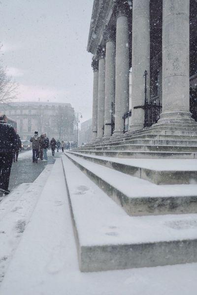 Cold Temperature Winter Snow Weather Architecture Built Structure Architectural Column