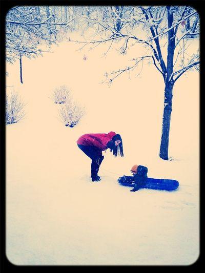 Sledding With My Best Friend.