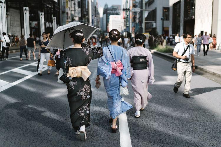 Three women in