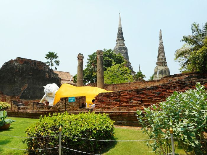 Religion Spirituality Architecture Cultures Pagoda Clear Sky Tailandia. Ayutthaya Historic Park Ayutthaya Buddhist Buddha Statue Spirituality Buddhism Thailand Thai Buddha Ayyuthaya Buda Travel Tailandia Travel Destinations Travel Photography Sculpture Statue Built Structure