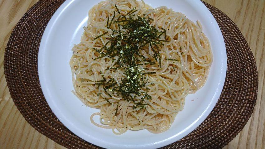 たらこスパゲティ Plate Food And Drink Food Ready-to-eat Table Directly Above High Angle View Indoors  No People Italian Food Serving Size Freshness Healthy Eating Close-up Day