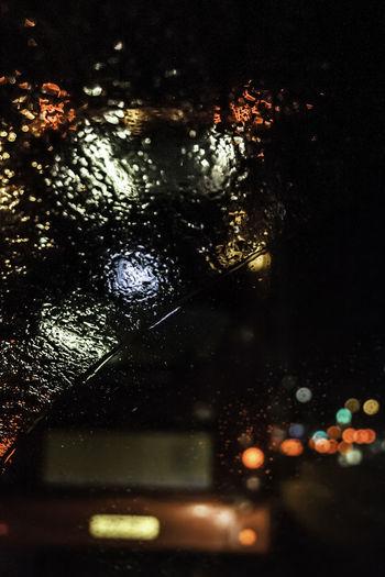 Car Lights Cars Rain RainDrop Bokeh Bokeh Photography Car Window City Close-up Drop Focused Glass - Material Illuminated Indoors  Night No People Rain Rain On Car Rain On Car Window Rain On The Window RainDrop Selective Focus Water Wet Window