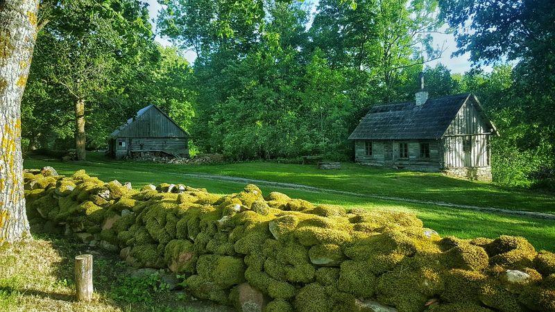 Building Estonia Village Village Life Beads Bead Stones Stone Material Stone Wall Stone - Object Stone Buildings Ston