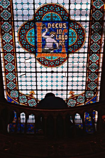 Stained Glass Window Multi Colored Built Structure Indoors  Spirituality Religion Architecture Place Of Worship Day No People Close-up
