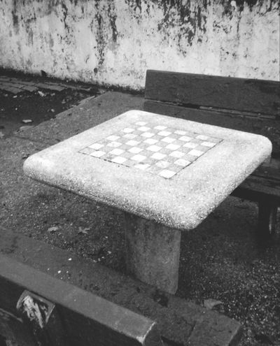 Sunset Park Chess Tables B&w