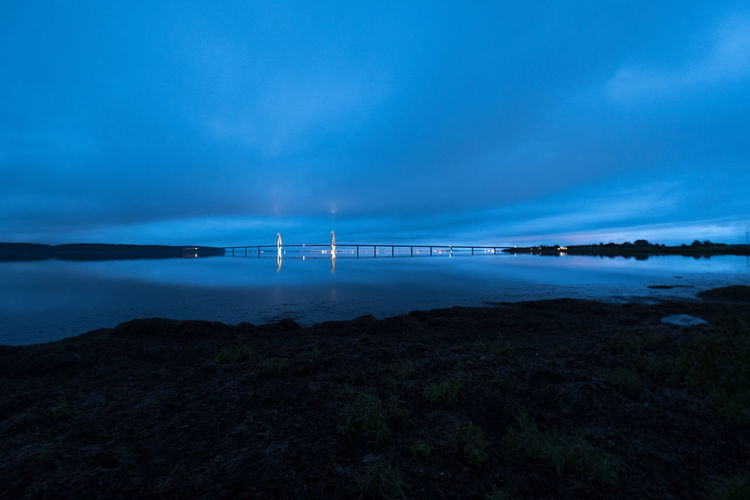 Architecture Beauty In Nature Blue Blue Sky Bridge Cloud - Sky Day Fuel And Power Generation Horizon Over Water Nature Night No People Outdoors Scenics Sea Sky Tranquil Scene Tranquility Water