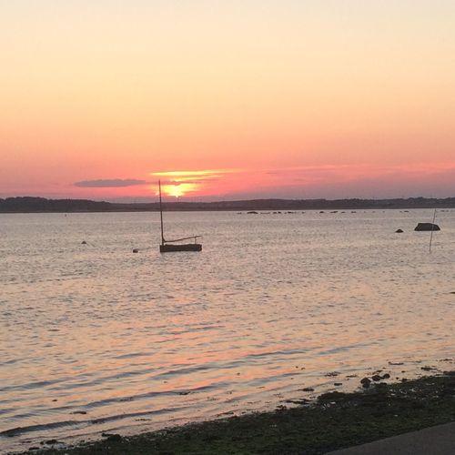Beautiful evening at the beach Sunset Beach Beauty In Nature Sea Sun Dramatic Sky Scenics Tranquil Scene