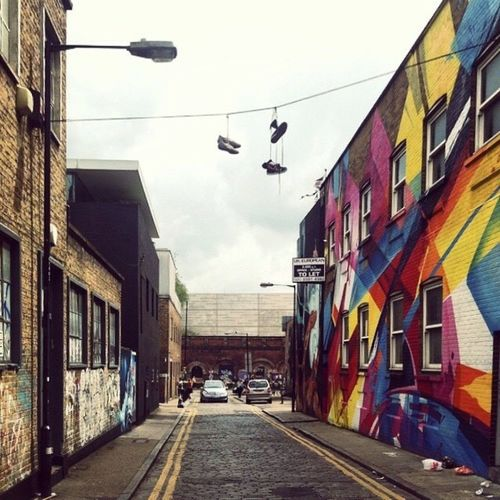 Bricklane Bricklane Building Exterior Architecture Built Structure Sky Day No People The Way Forward Outdoors City Street Architecture Travel Destinations Travel Lifestyles Graffiti Art
