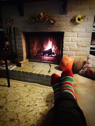 Cozy day at home by the fire 🔥 EyeEm Gallery EyeEm Best Shots Popular Photos My Original Photo Samsungphotography Home And Hearth Sock Selfie Cozy By The Fire Flame Heat - Temperature Close-up Burning Fireplace Fire Heat Firewood Fire - Natural Phenomenon Sock Autumn Mood