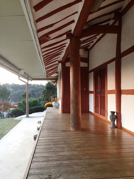 Architecture Wood - Material Built Structure Architectural Column Day No People Indoors  Korean-style house