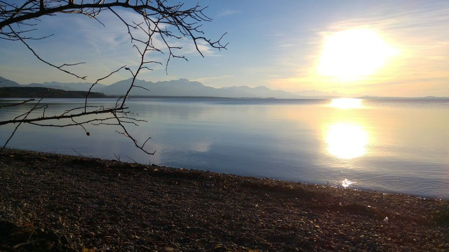 Munich Chiemgau Chiemsee Clear Water Mountain Sky Sun Water