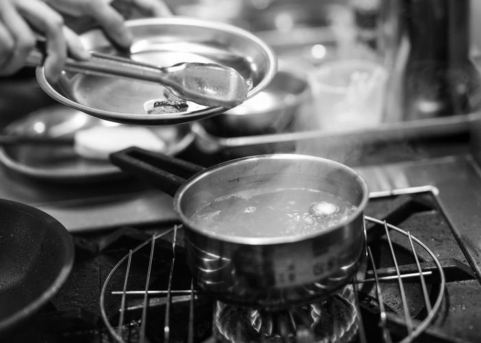 Close-up of tea in kitchen