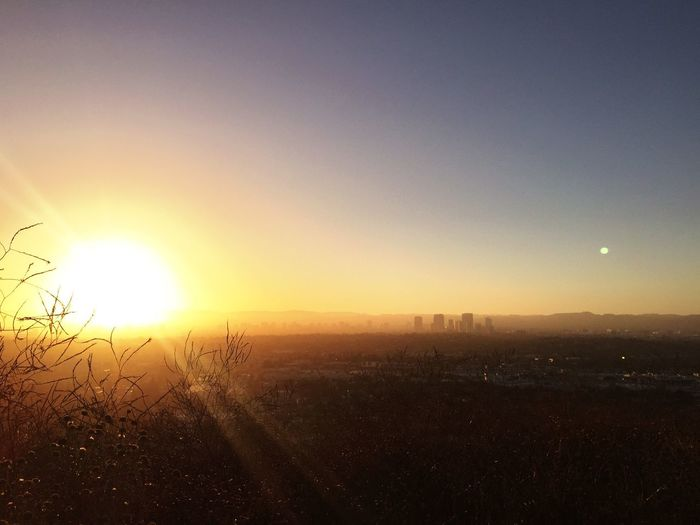 Sun Sunset Tranquil Scene Tranquility Nature Beauty In Nature View From The Top Landscape CulverCityStairs
