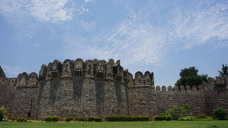 Landscape Front view of Golkonda Fort against sky Old Ruin No People Outdoors Day Sky Golkonda Fort, Hyderabad Sonyalpha Sony A6000 Nwin Photography Ancient Civilization Monument Architecture Ancient Travel Destinations HyderabadTimes Hyderabad Monuments Hyderabad Diaries