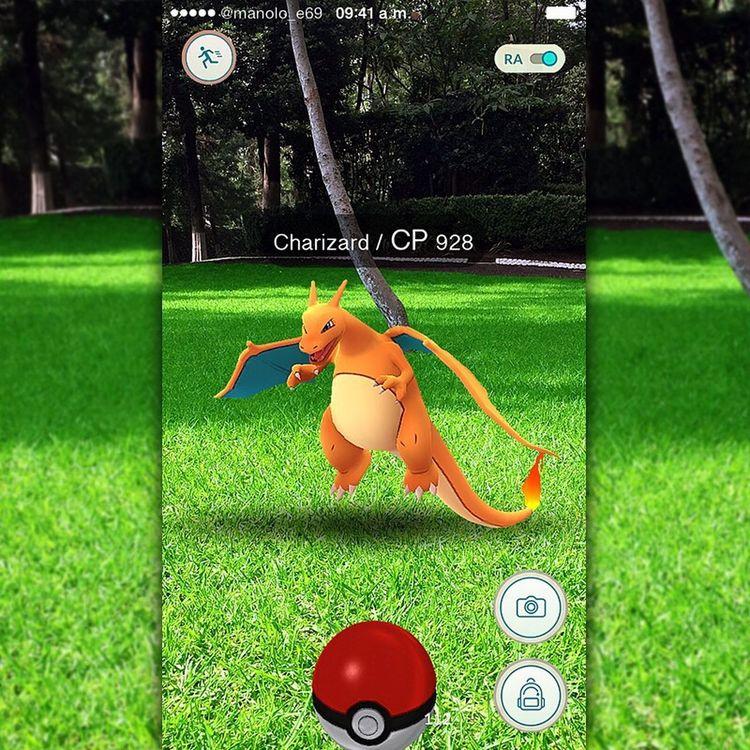 Subiéndome al tren del #mame 😂🎮👾📱 #PokémonGo #Pokémon #iPhone #Charizard