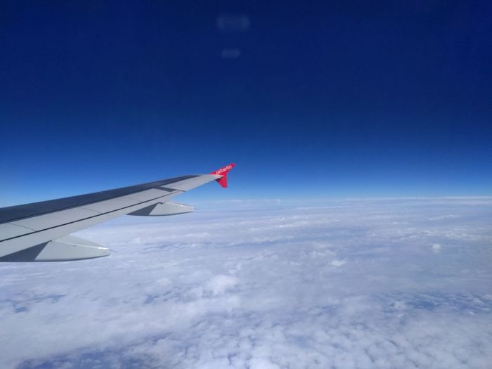 Plane Wing Holiday Sky
