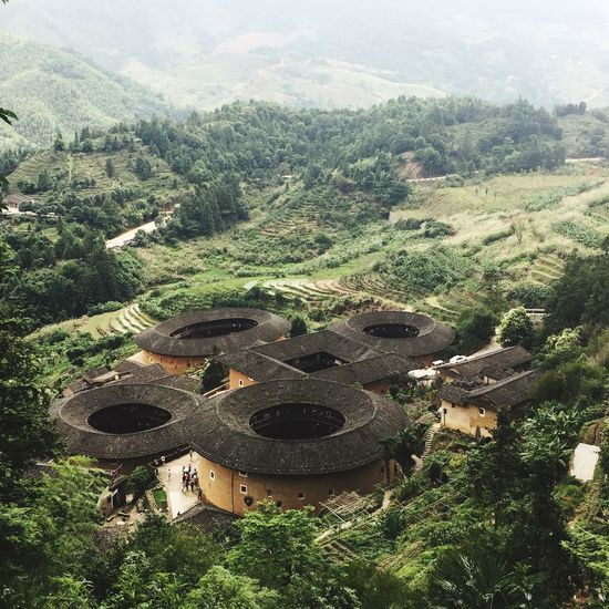Ancient Chinese architecture-- Tulou High Angle View Built Structure Architecture Ancient Civilization Chinese Architecture Ancient Architecture