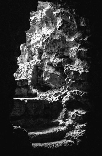 Perspectives On Nature Rock - Object No People Cave Nature Beauty In Nature Black & White Blackandwhite Photography Blackandwhite